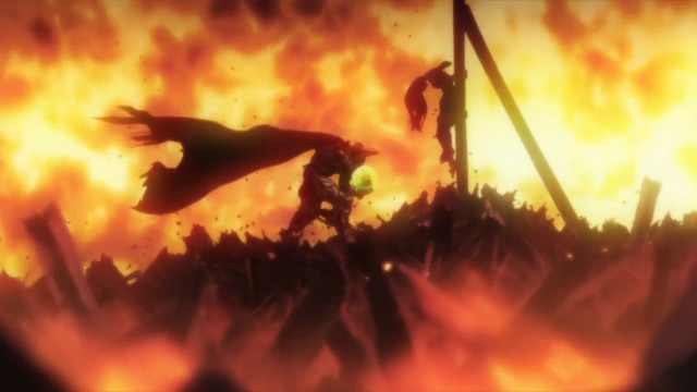 Zoro resgata o bebê da bruxa