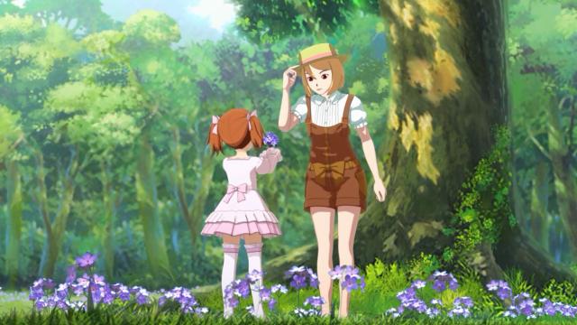 Duas irmãs felizes no bosque