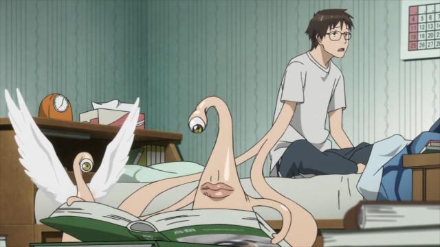 Não sei porque o Shinichi se incomoda, é o sonho de todo colegial ter uma mão que estuda em seu lugar